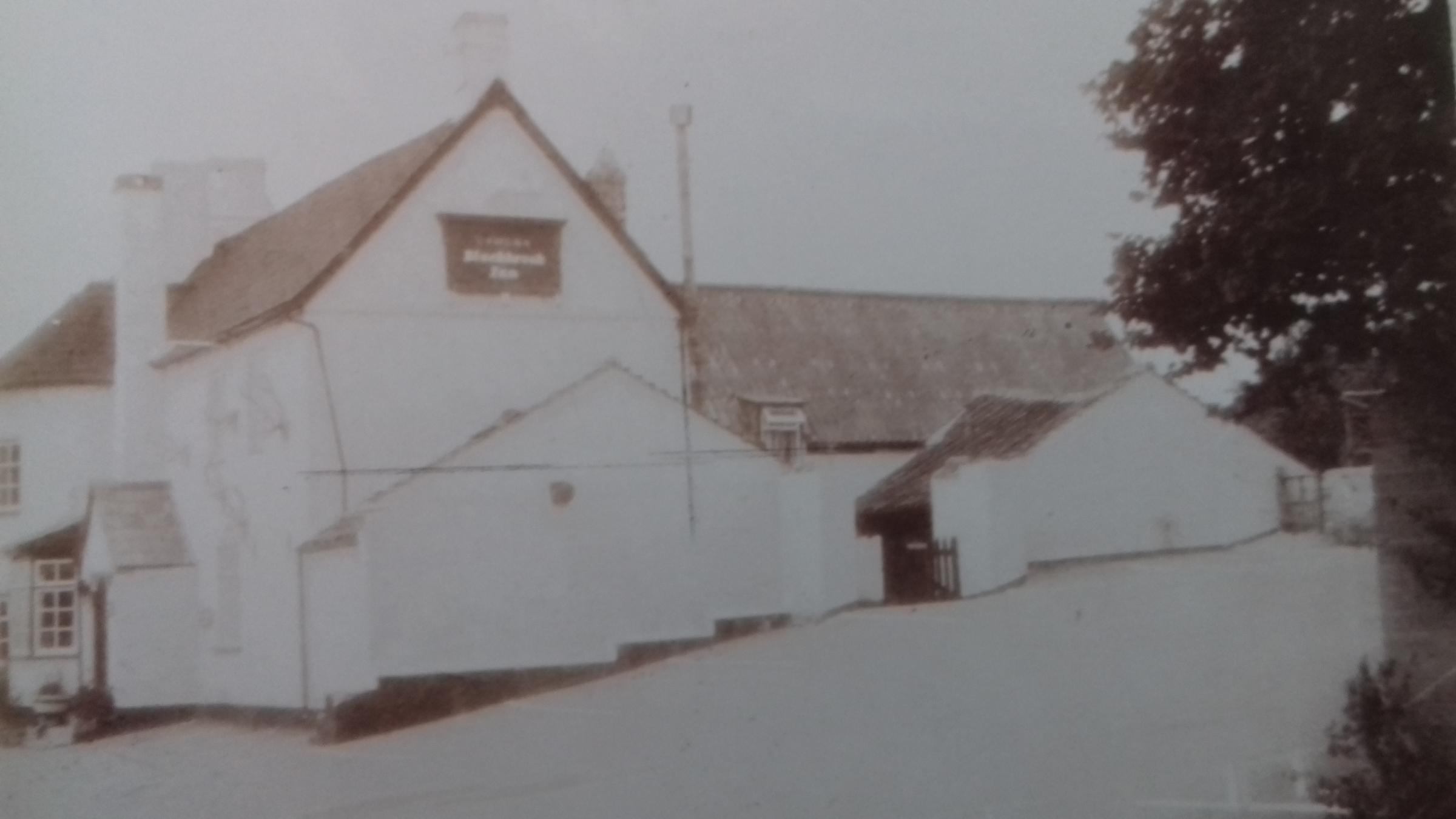 BLACK AND WHITE: A dated picture of the former Blackbrook Tavern