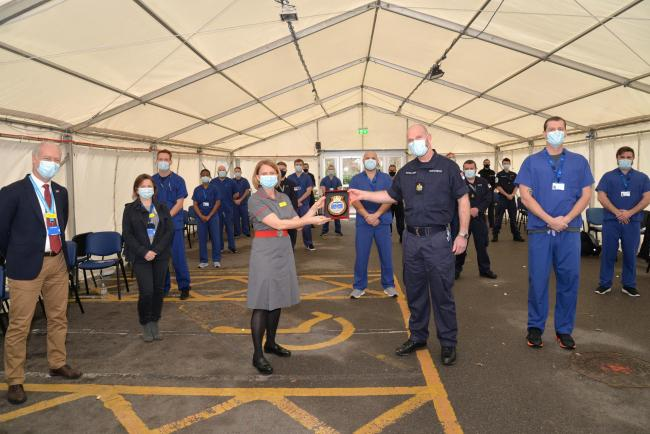 Somerset NHS says thank you to military colleagues. Pic: Somerset CCG