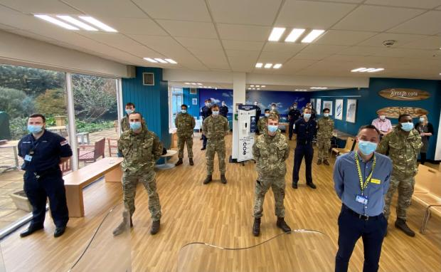 Somerset County Gazette: Somerset NHS says thank you to military colleagues. Pic: Somerset CCG