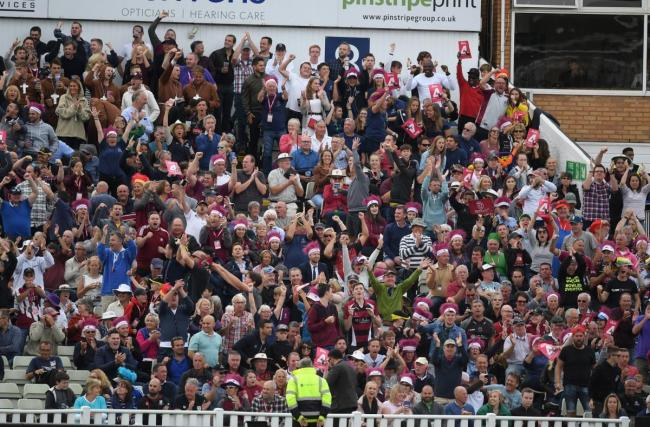 SUPPORT: Somerset County Cricket Club fans at T20 Finals Day in 2018