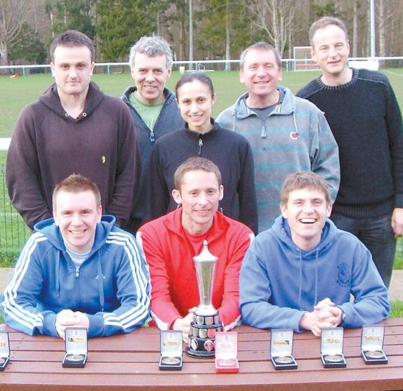 CHAMPIONS: The Hydro Harriers running team in 2011