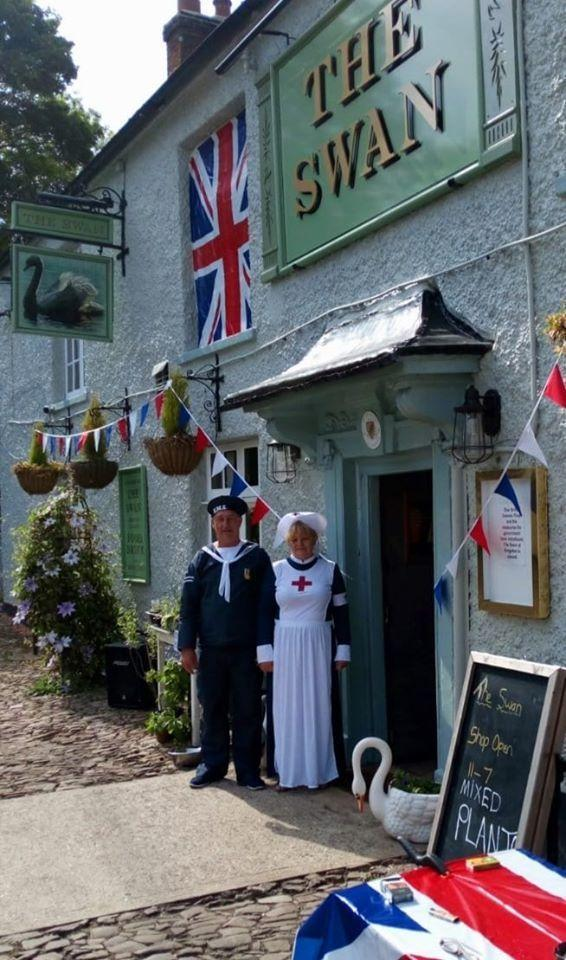 Jimmy and Mandy Church during VE Day celebrations last summer