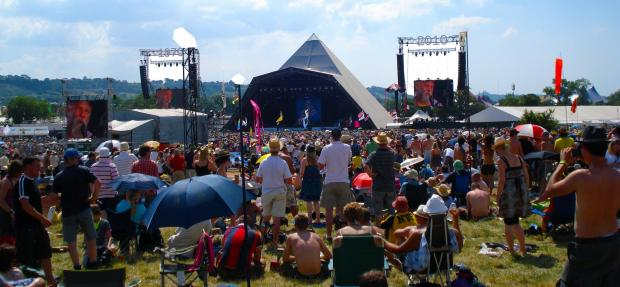 Somerset County Gazette: NOW: The current incarnation of the Pyramid Stage at Worthy Farm. PICTURE: Paul Jones