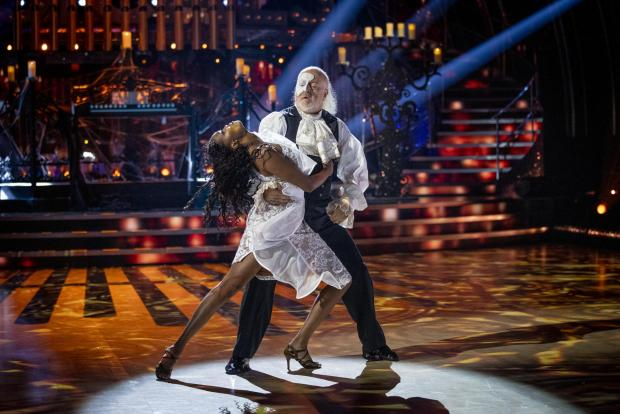 Somerset County Gazette: Oti Mabuse and Bill Bailey during a live show of Strictly Come Dancing. (BBC/PA)