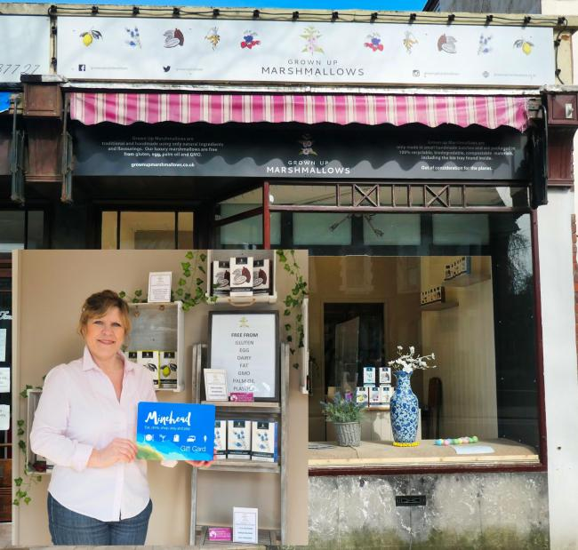 MINEHEAD GIFT CARD: Janet Thompson of Grown Up Marshmallows