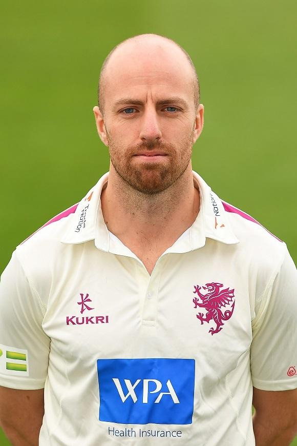 TAUNTON, ENGLAND - APRIL 01: Jack Leach of Somerset CCC poses for a photo during a Somerset CCC Photocall at The Cooper Associates County Ground on April 01, 2021 in Taunton, England. (Photo by Harry Trump/Getty Images).