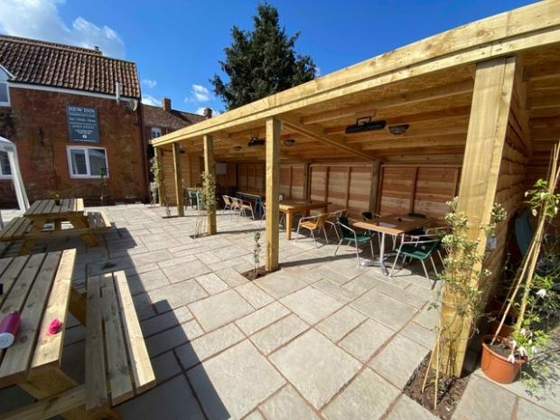 Somerset County Gazette: OPENING: Pub garden at New Inn