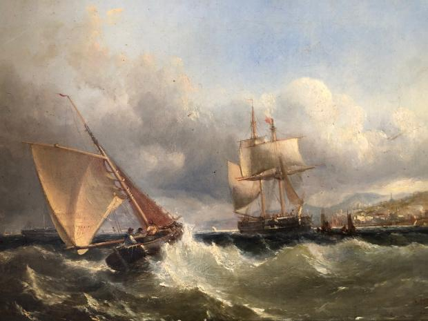 Somerset County Gazette: PAINTING: Edwin Hayes, rough seas, oil on canvas, from the dining room, £500-£1,000
