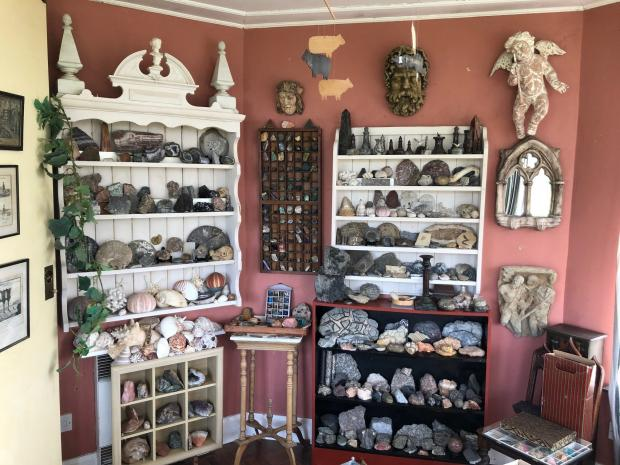 Somerset County Gazette: COLLECTION: Of minerals in the garden room