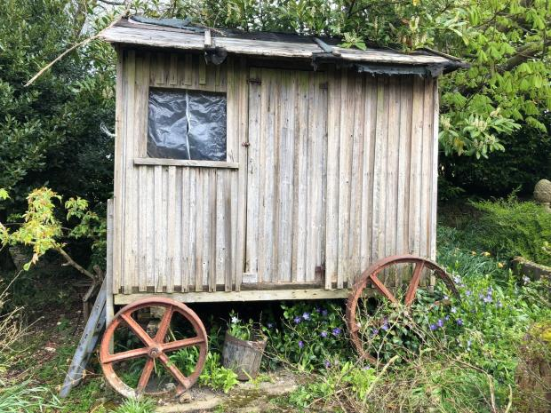 Somerset County Gazette: RESTING PLACE: A late Victorian shepherd's hut discovered in the garden, £800-£1,200