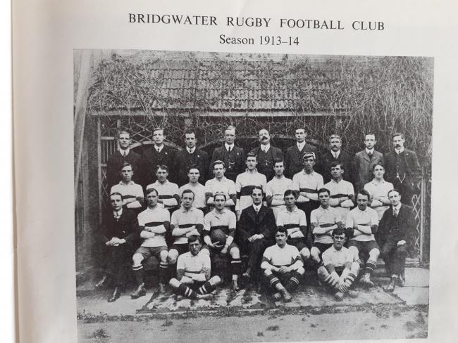 LINE-UP: Bridgwater RFC in 1913/14