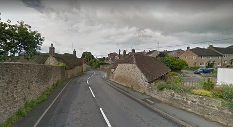 CARAVAN FIRE: Oborne Road, Milborne Port. Pic: Google Maps