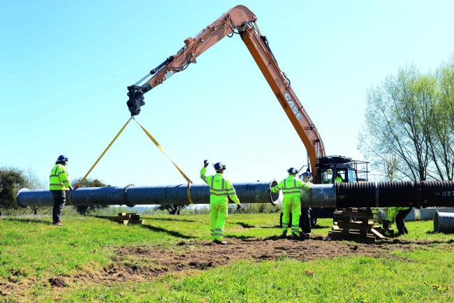 PIPEWORK: The West Sedgemoor Pumping Station training exercise