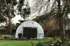 One Of The Plastic \'Dining Igloos\' In The Grounds Of Greenway Farm Near Bridgwater. CREDIT: Sedgemoor District Council. Free to use for all BBC wire partners.