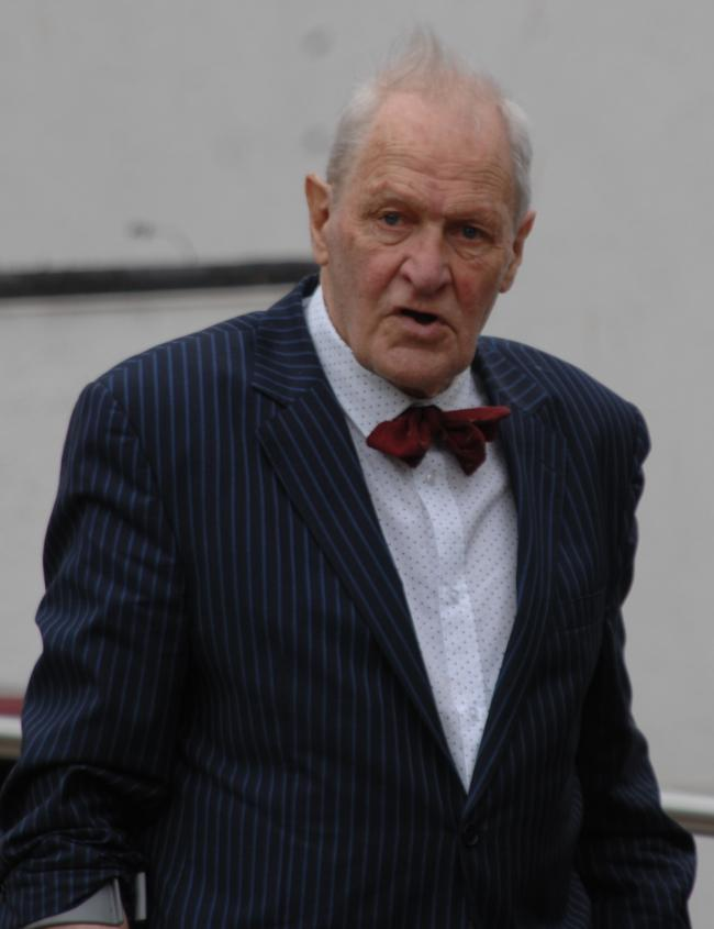 Maurice Kirk arriving at Exeter Crown Court during his trial