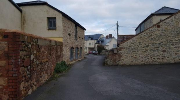 Somerset County Gazette: View Of Anchor Street From The Swimming Pool Site In Watchet. CREDIT: Architectural Studios. Free to use for all BBC wire partners.