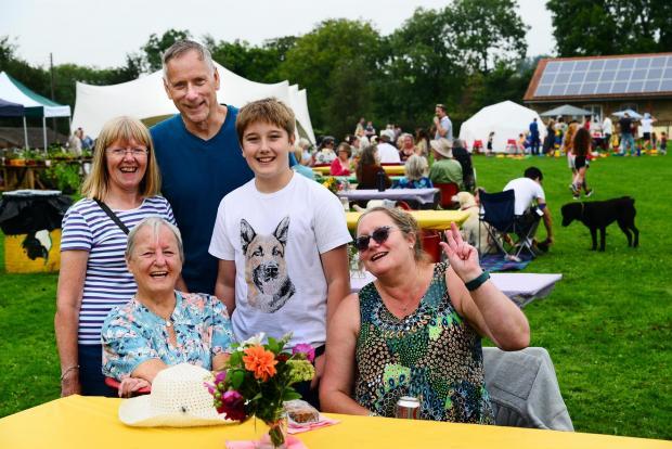 Somerset County Gazette: FUN TIMES: Stephen and Lesley Parry, Ann Millard, Jack Matthews and Sue Millard