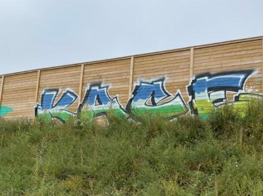 Somerset County Gazette: GRAFITTI: At the site of the new Polden Bower School in Bridgwater