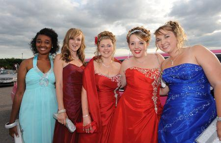 Photos from the Leavers' Prom at Castle School, Taunton, June 30, 2010