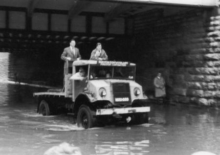 Photos from the Taunton Flood of October 27, 1960.