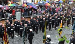 Royal Marines march - 30,000 turn out to cheer Commandos