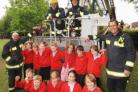 Fire service visit Blackbrook Primary School