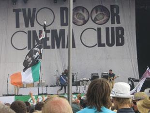 Somerset County Gazette: TWO Door Cinema Club performing on the Pyramid Stage on Friday.