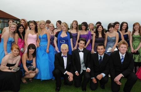 Photos from the leavers' prom at Court Fields Community School, Wellinigton, 2011