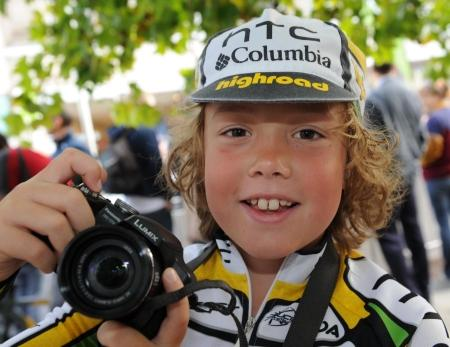 Photos from the Tour of Britain Cycle Race in Taunton, Somerset, September 16, 2011.
