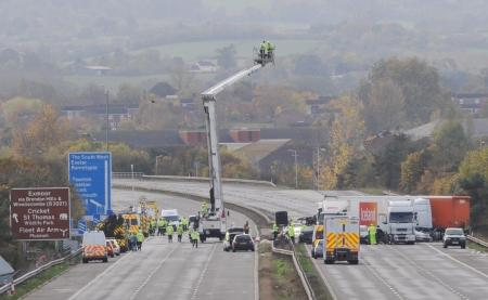 Photos of the Taunton M5 crash tragedy