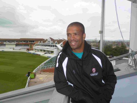 Vernon Philander arrives at Taunton