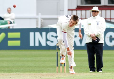 Craig Overton, 18, took a wicket on his debut. PHOTO: thomassmithpix.com