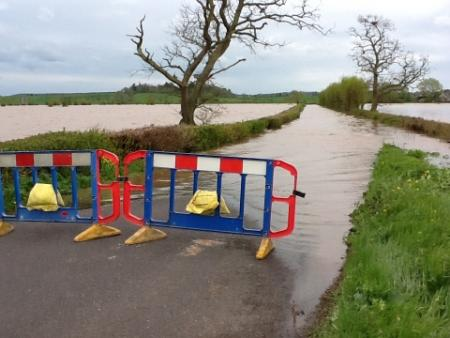 New Road, North Curry, was closed last night (Apil 30) due to flooding across the Levels. Email your pix and stories to newsdesk@countygazette.co.uk or call 01823-365100