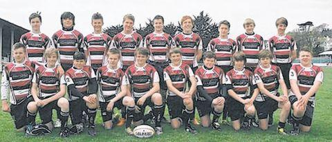Taunton Under-14s on Cornwall rugby tour