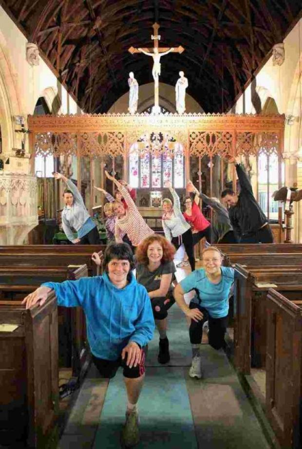 Members of the pop-up gym held in All Saints Church. PHOTO: Steve Guscott