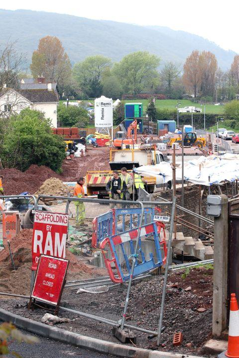 Disruption is still being cause in Porlock as the link road is built. PHOTO: Steve Guscott