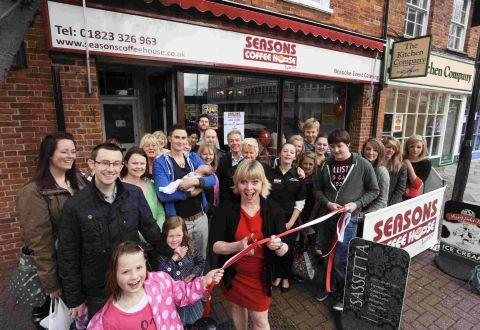 Willy Wonka star opens Taunton coffee house