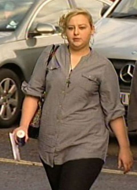 Leanne Burnell pictured attending her trial.