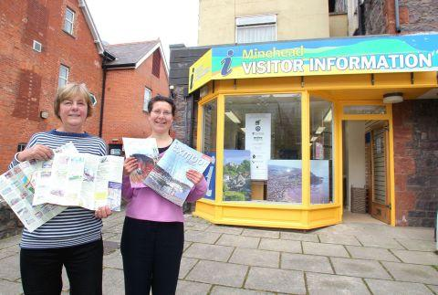 Manager Jill Homewood and deputy manager Lena Bond from the Minehead Visitor Information Centre. PHOTO: Steve Guscott