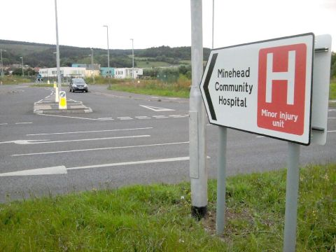 New official sign for Minehead hospital