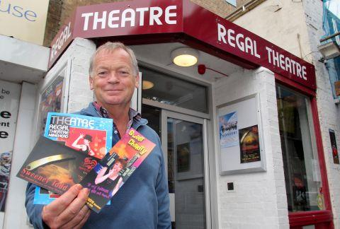 Ray Tew, chairman of MATA, outside the Regal Theatre before its entrance is transformed by the planned revamp. PHOTO: Steve Guscott