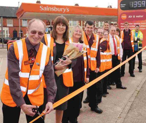 New town centre petrol station open at Sainsbury's