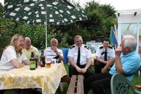 Sgt Andy Murphy and Acting Sgt Jon O'Connor with allotment holders