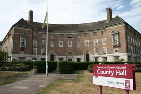 Somerset County Gazette: County Hall, Taunton.