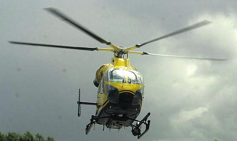 Child airlifted from Langport to Musgrove Park Hospital