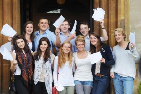 Photos of students from schools and colleges across Taunton collecting their hard-earned A-level results.