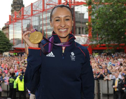 Jessica Ennis in her home town of Sheffield at the weekend