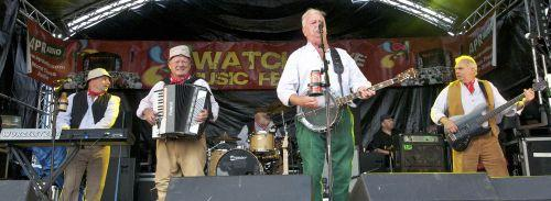 Westcountry band The Wurzels performing at the festival. PHOTO: PGphotography 07789557709