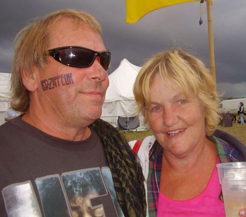 Nick and Diane Cotter from Watchet help out with the festival because they believe in it.