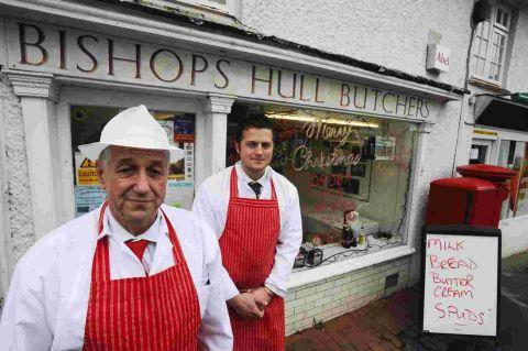 Bishop's Hull steps in to help butcher's shop